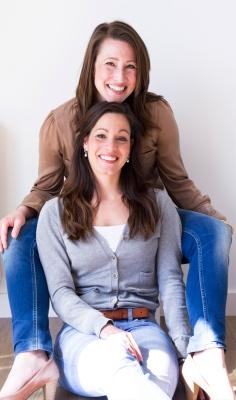 Henriette Klein met haar tweelingzus