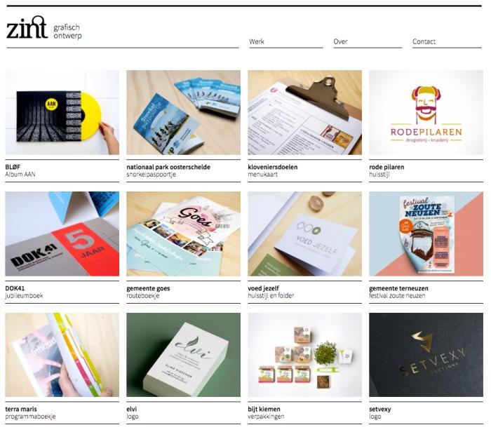 Website van studio Zint