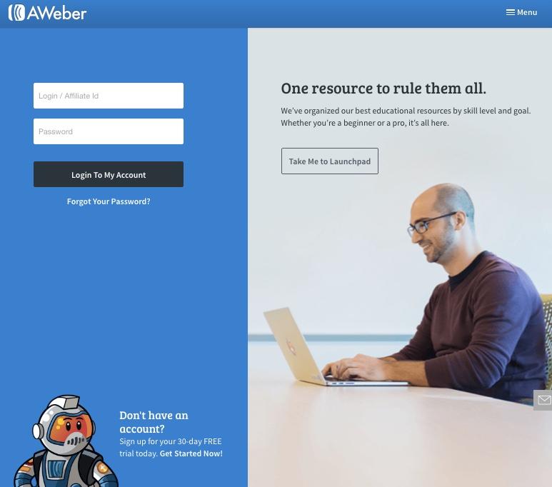 Aweber is een nieuwsbrief host met een goede reputatie