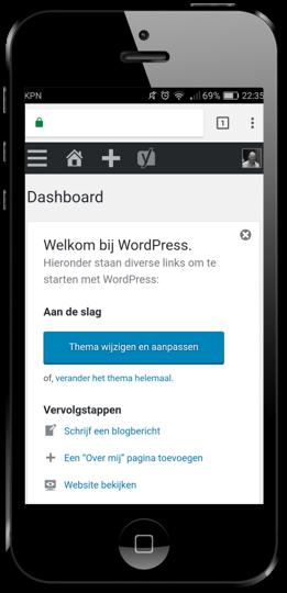 WordPress op de telefoon bijwerken