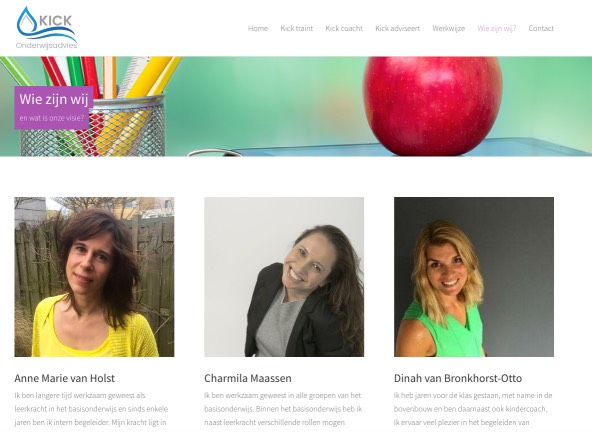 De dames van Kick onderwijsadvies - Charmila Maassen