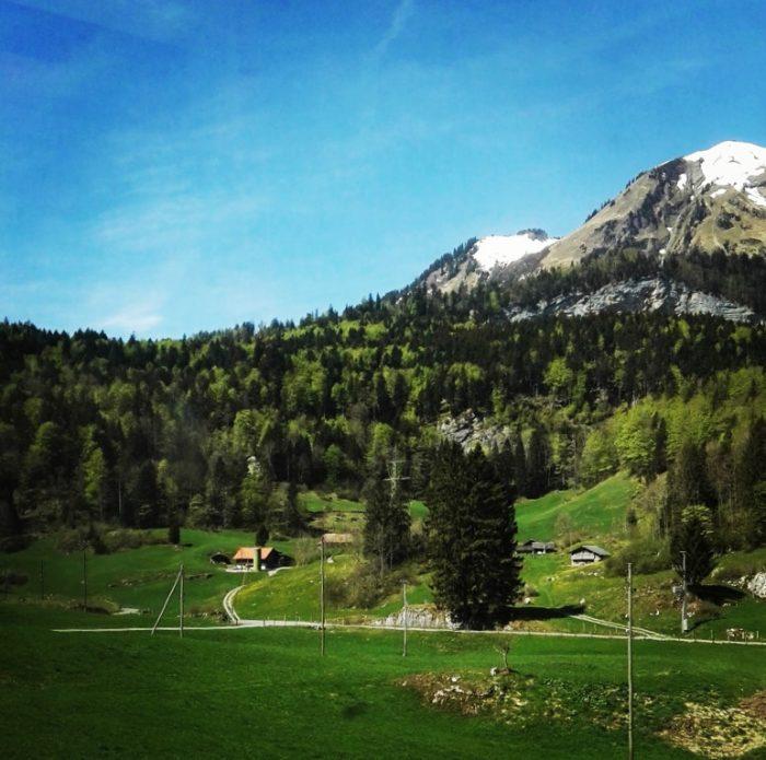 Uitzicht vanuit de trein - Interlaken - Luzern, Golden Pass Line