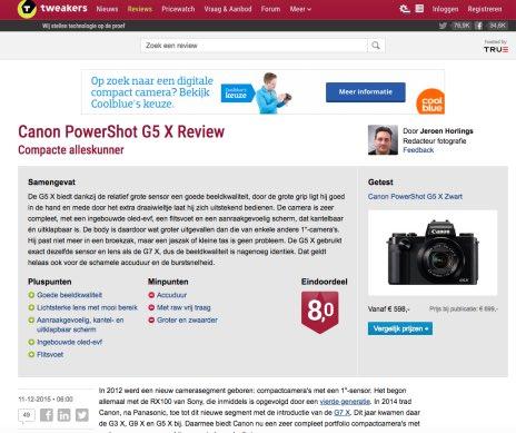 Een review van tweakers.net een vorm van content