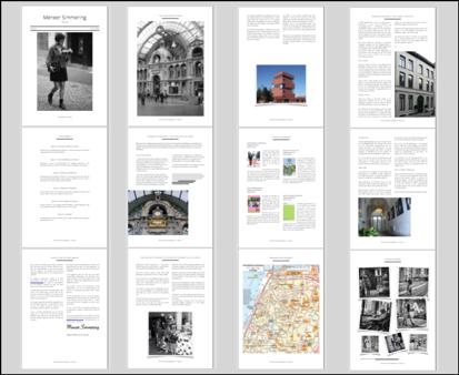 Pagina's van het magazine over Antwerpen