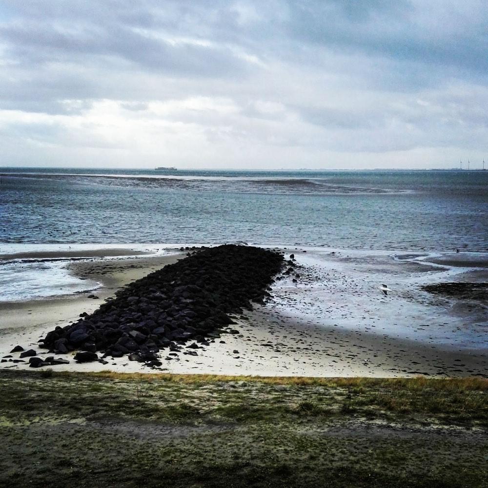Zicht op de Oosterschelde, Zeeland, Yerseke