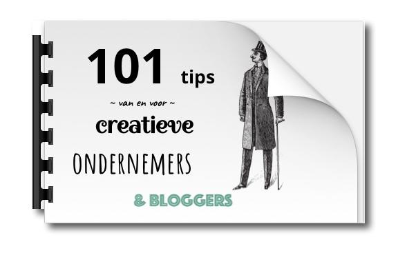 ebook 101 tips voor creatieve ondernemers en bloggers
