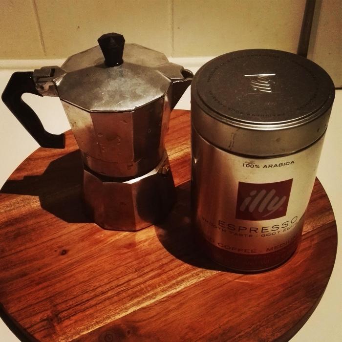 mokka- of espresso potje