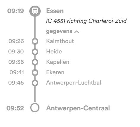De sneltrein van Essen naar Antwerpen