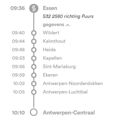 Stoptrein van Essen naar Antwerpen