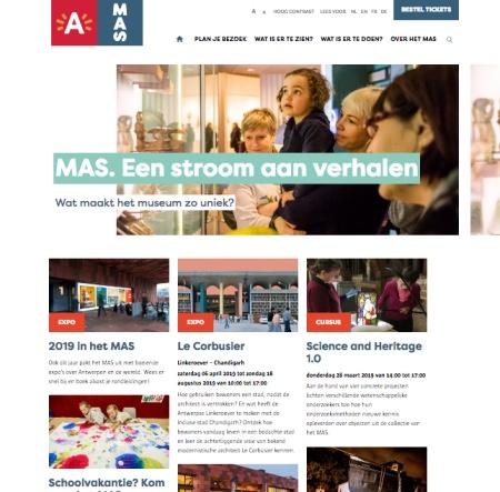 Website van het MAS