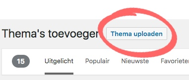 WordPress thema uploaden