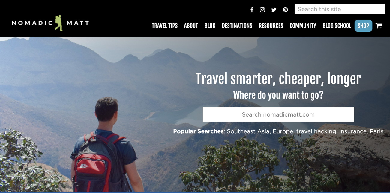 Website Nomadic Matt