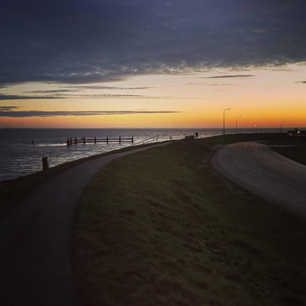 Zaterdagmorgen wandelen bij zonsopkomst