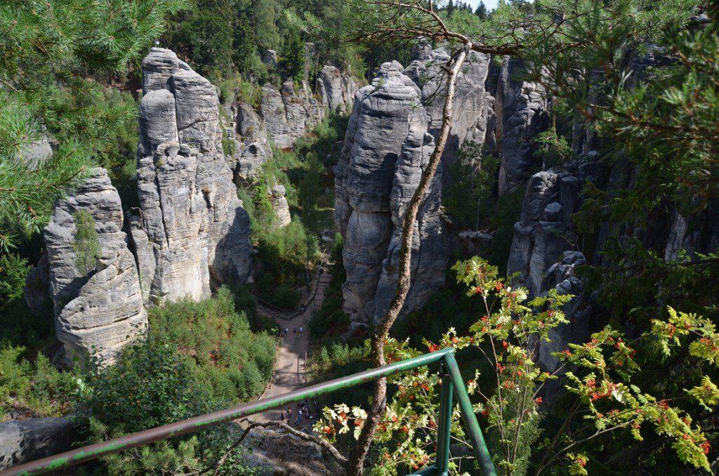 Tsjechië Boheems Paradijs eerste uitkijkpunt