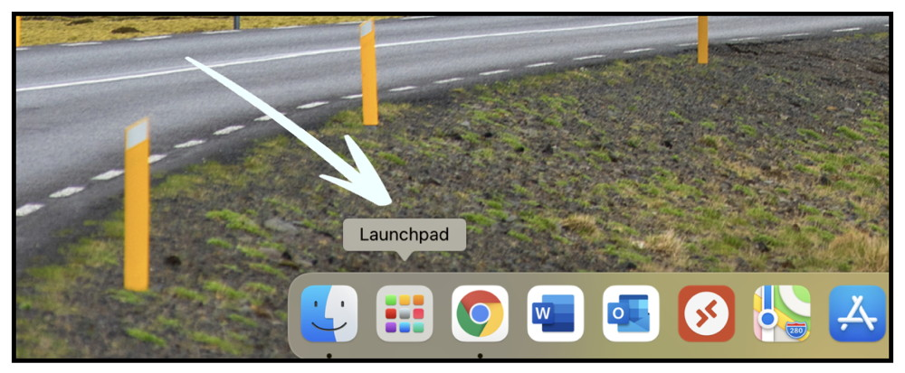 launchpad op de mac openen