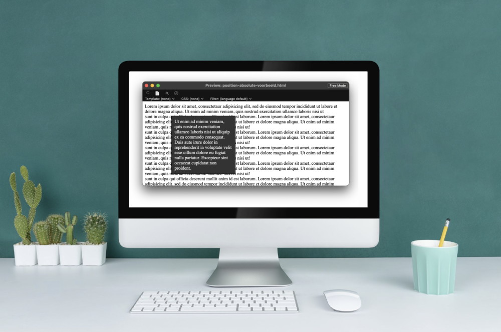 Positioneren in CSS